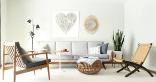 Modern Living Spaces Mid Century Modern Living Room Vintage Pearsall Style Gray Couch