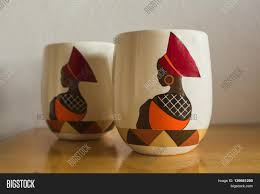 coffee mugs traditional african style craftsmanship image