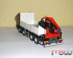 renault lego model eligor renault c480 mit pritsche und palfinger crane 1 43