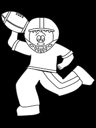 printable football quarterback sports coloring pages