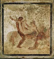 erotic scene fresco from pompeii italy art ist pinterest pompei mural paint c