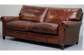 george smith armchair george smith aged whiskey brown leather signature sofa vinterior
