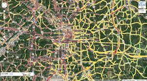 Map Of Atlanta Traffic by Snow Wreaks Havoc In Atlanta Business Insider