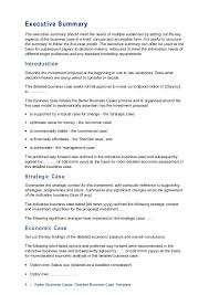 business case word template free download