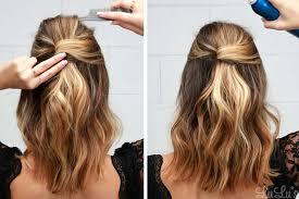 tutorial rambut tutorial rambut half up party lob favorit popbela