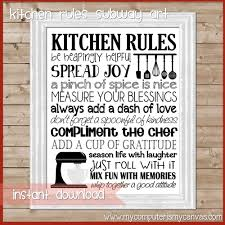 kitchen rules subway art kitchen wall art kitchen decor