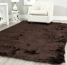 Silk Shag Rug Amazon Com Safavieh Paris Shag Collection Sg511 2727 Chocolate