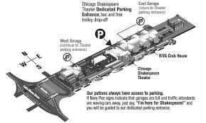 navy pier map chicago shakespeare theater parking and directions