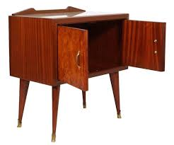 midcentury paolo buffa bedside table rosewood and elm burl folder