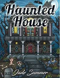 amazon com haunted house horror midnight coloring books