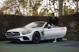 lexus commercial actor 2017 mercedes benz teams up with roger federer for hilarious new sl