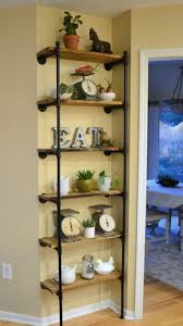 copper pipe reclaimed wood shelving with coat hooks with small