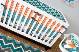 Navy Blue Chevron Crib Bedding by Crib Bedding Boy Turquoise Orange Nursery Bedding Baby Crib