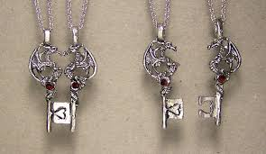 dragon key necklace images Dragon key pair of necklaces dragon jewelry jpg