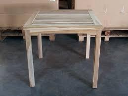 Square Bistro Table Teak Square Bistro Table 80cm