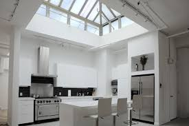 Creative Skylight Ideas Creative Modern Kitchen With Dome Skylight Combined White Accents