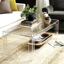 lucite waterfall coffee table acrylic lucite coffee table derekhansen me