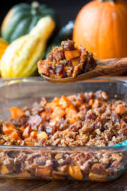 paleo candied sweet potatoes with pecans dates vegan