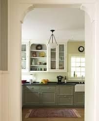 green lower white kitchen cabinets arts crafts cottage sally ross designs kitchen