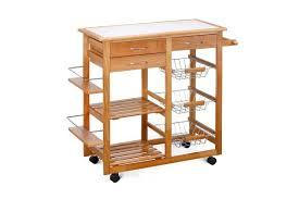 furniture for kitchen storage ovela ceramic top kitchen storage trolley workbench kogan com