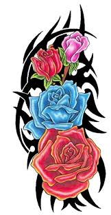 Tribal Tattoos With Roses - tattoos ideas