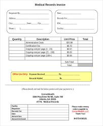 4 medical invoice examples u0026 samples