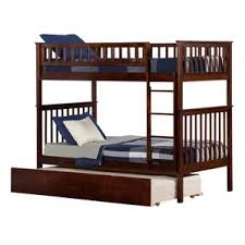 Twin Over Twin Bunk Beds With Trundle by Walnut Bunk U0026 Loft Beds You U0027ll Love Wayfair
