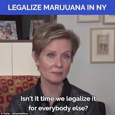 Legalize Weed Meme - cynthia nixon wants to legalise marijuana daily mail online