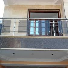 stainless steel and glass balcony railing vishwas steel works