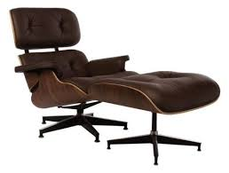 brown chair and ottoman eames style lounge chair and ottoman walnut brown leather s