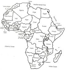 map of africa with country names outline map of africa with country names my free printable
