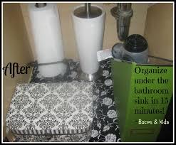 Under Bathroom Sink Organizer by Organize Under The Bathroom Sink In 15 Minutes Bacon U0026 Kids