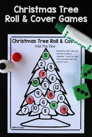 christmas tree light game preschool christmas light number match counting board game