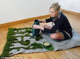 real grass rug brings freshly cut lawn into your living room