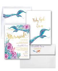 mermaid baby shower invitation under the sea invitation