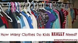 Does A Bedroom Require A Closet How Many Clothes Do Kids Really Need Keeper Of The Home