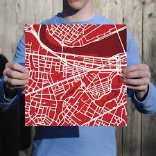 Boston University Campus Map Boston University Campus Map Art City Prints