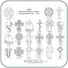 assorted religious crosses patterns carving patterns