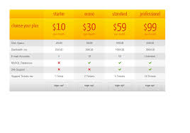 css3 responsive web pricing tables grids by quanticalabs codecanyon