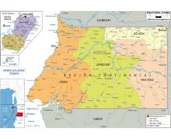 Chico State Map Maps Of Equatorial Guinea Detailed Map Of Equatorial Guinea In
