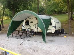 Awning For Travel Trailer Tear Drop Shop Offers R Pod And Alto Awnings The Small Trailer