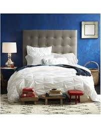west elm bedroom spring savings on west elm tall grid tufted headboard twin leather
