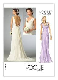 wedding dress sewing patterns 2965 vogue wedding dress pattern cowl neck dress plunging back