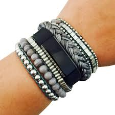 bracelet fitbit images The rosie grey beaded fitbit bracelet for fitbit alta jpg
