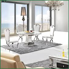 metal top round dining table stylish white marble top round dining table with stainless steel