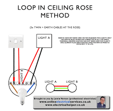 wiring a ceiling rose how to electrical helper