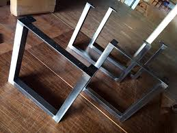 Modern Metal Furniture Legs by Rustic Table Legs Square Metal Industrial Frames Custom