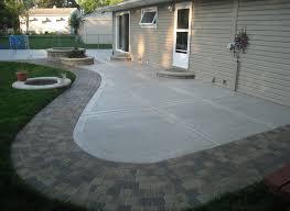 Backyard Cement Ideas Design Of Concrete Backyard Patio Ideas Choosing A Cement