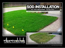 Sod Estimate by Sodding And Sod Repairs By Riker Volchok Construction Landscapes