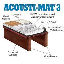 maxxon acousti mat 3 acoustic floor underlayment offers superior